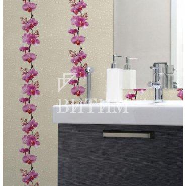 Панель ПВХ термопечать «Орхидея дикая» в интерьере