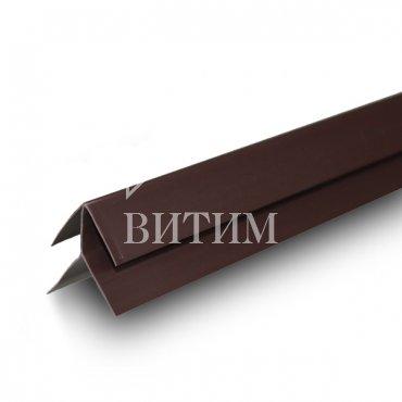 Внешний угол ПВХ шоколад