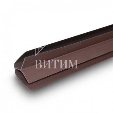 Внутренний угол ПВХ шоколад