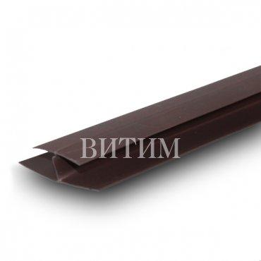 Н-Образный профиль ПВХ (соединительный) шоколад