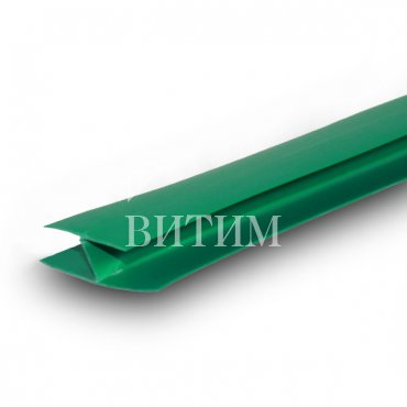 Н-Образный профиль ПВХ (соединительный) зеленый