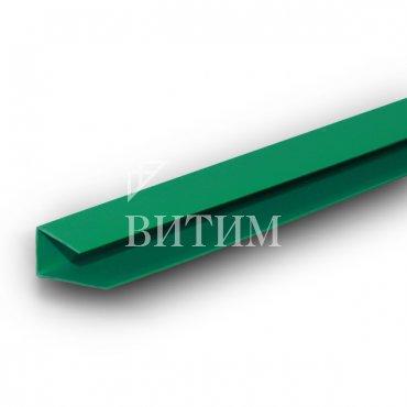 Профиль стартовый ПВХ (завершающий, П-образный) зелёный